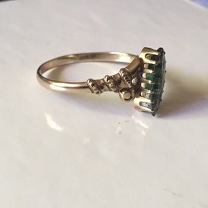 Vintage Jewelry - CLEARANCE Antique Victorian 10k Glass Ring